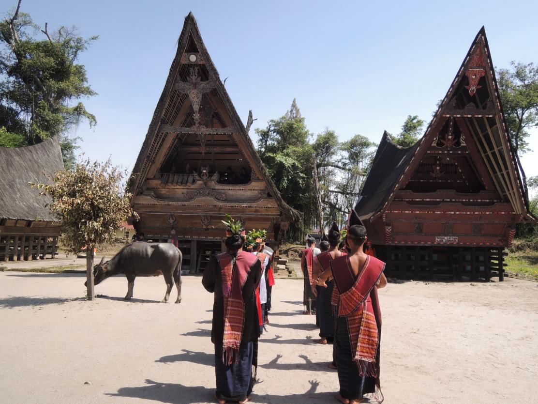Welcoming dance in Tuk Tuk Village