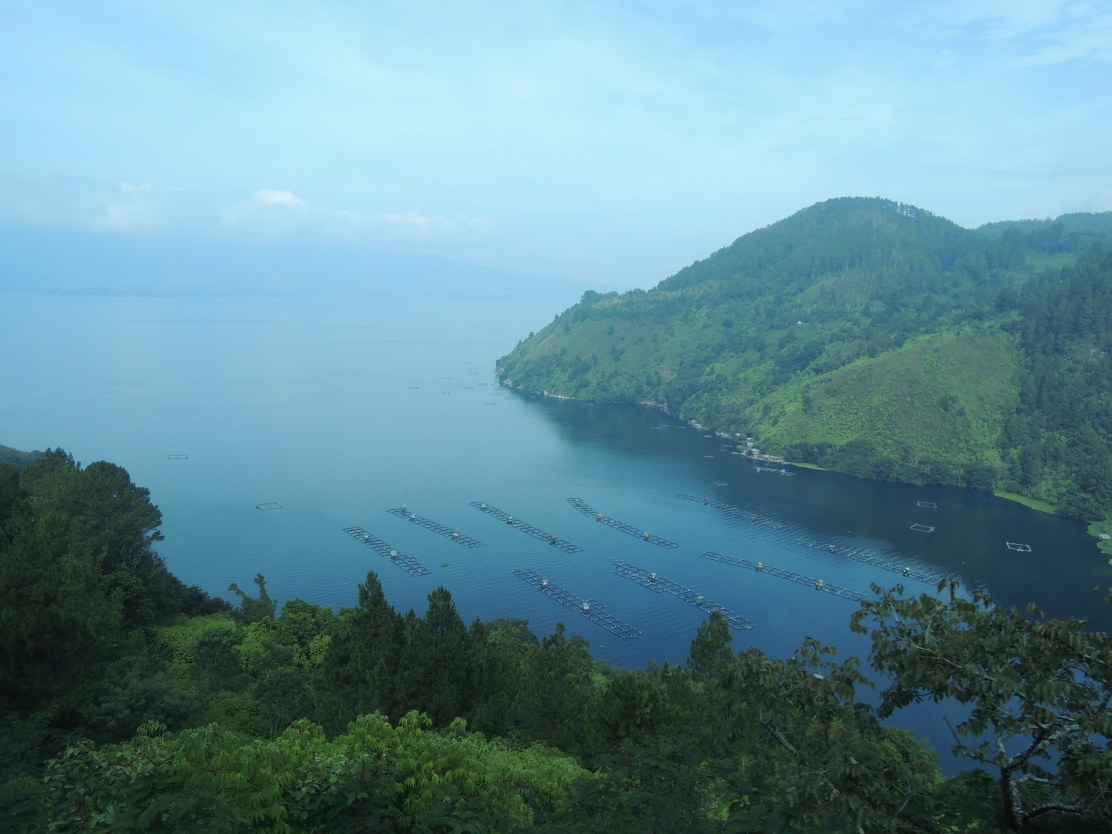 The morning hours of Toba Lake