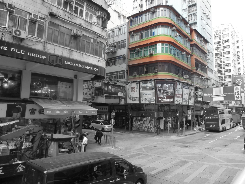Hong Kong in bw