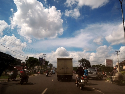 Street view of Palembang