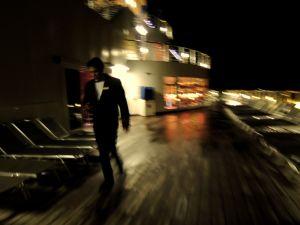 Costa Atlantica viewing deck at night