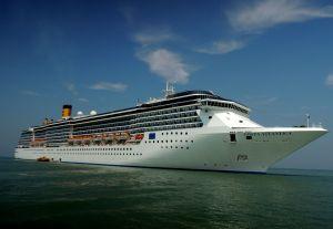 Costa Atlantica at the Strait of Malacca