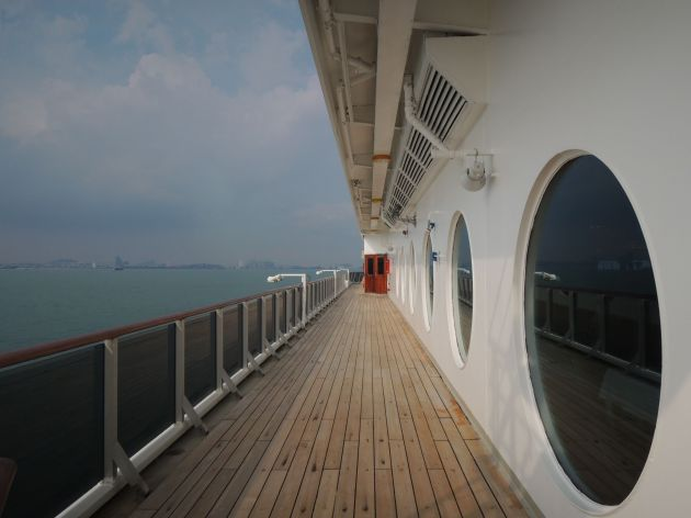 Morning cruise in the Strait of Malacca
