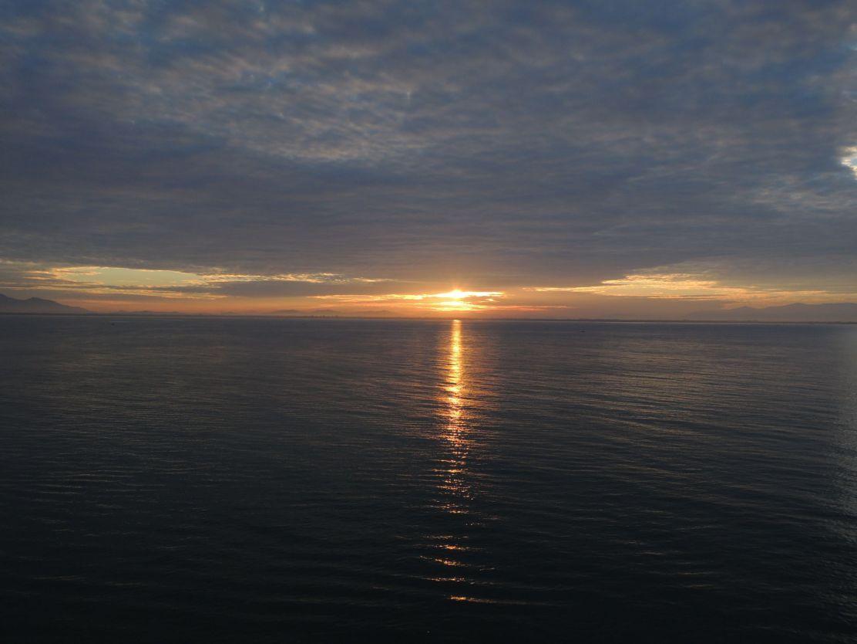 Sunrise in Malacca Strait