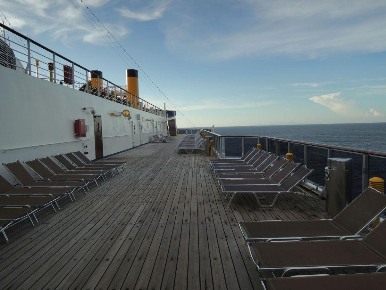 Costa Atlantica cruise upper deck