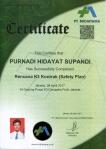 Sertifikat RK3K (Safety Plan), Purnadi Hidayat Supandi