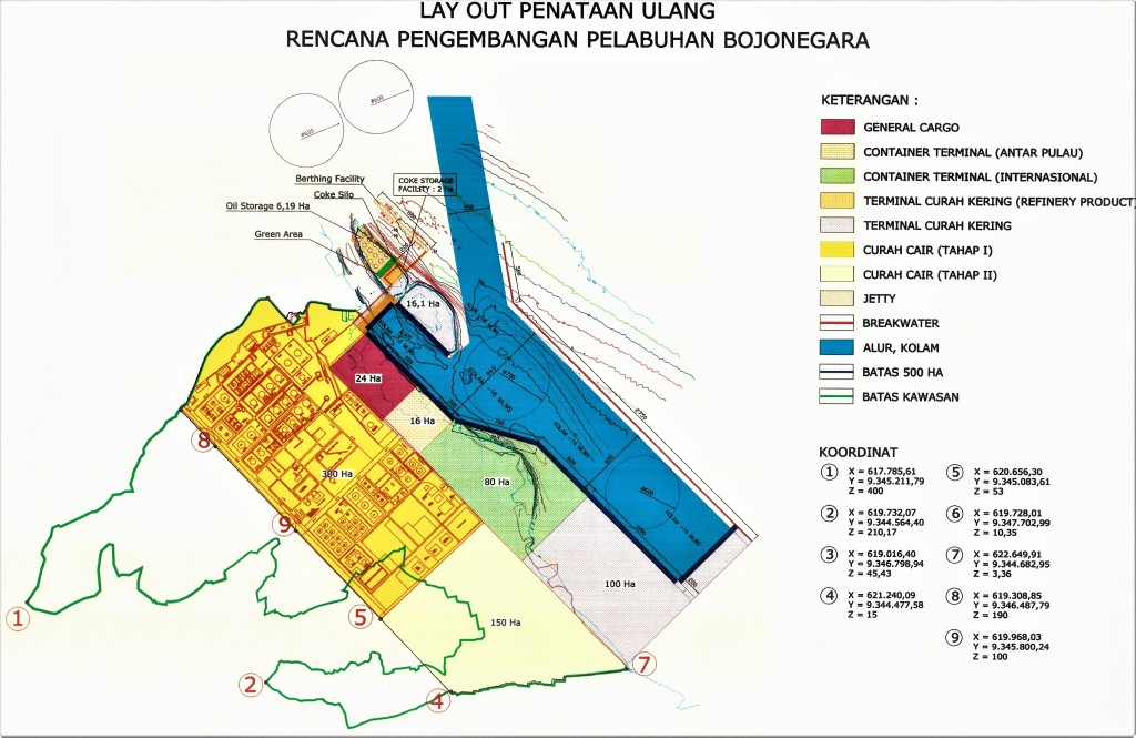 Bojonegara port redevelopment plan layout