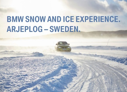 Bilingual promotional articles: BMW Snow and Ice Experience Arjeplog – Sweden