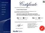 Sertifikat lead auditor ISO 14001 2015 EMS