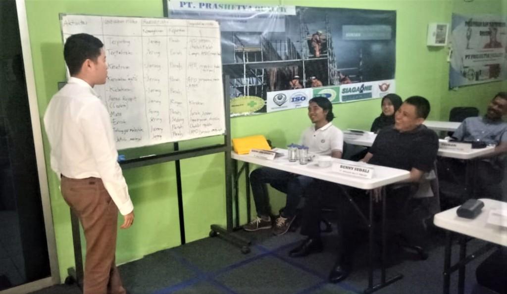 Pelatihan SMK3 PP 50 tahun 2012, Prashetya Quality, ASPI, 2019