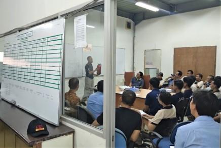 Fire emergency training at Essenzafactory