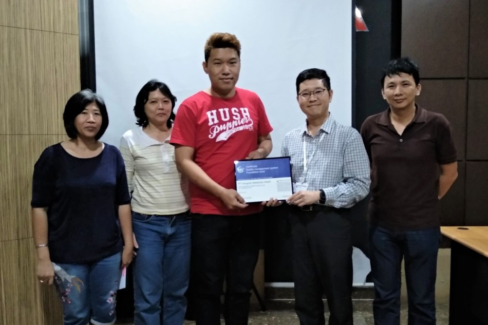 PT Anugrah Metalindo Abadi ISO 9001:2015 certified training course byASPI