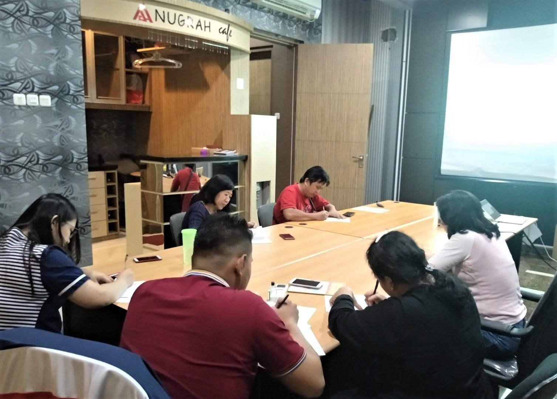 ISO 9001 foundation level training at PT Anugrah Metalindo Abadi, 2019.