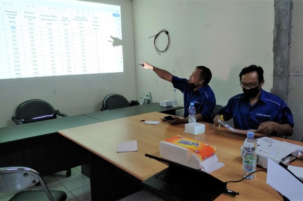 Workshop ISO 9001:2015 di PT Mitra Sinar Indah, Bogor, 12 April 2021